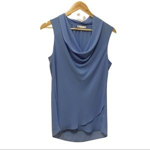 BABY BLUE SLEEVELESS COWL NECK TOP | size 12